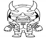Masked Fade Fortnite dessin à colorier