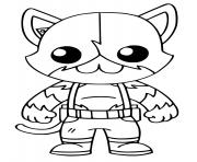 Meowscles Top Secret Fortnite dessin à colorier