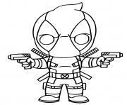 Deadpool Fortnite X Force Skin dessin à colorier