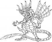 bakugan drago dessin à colorier