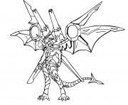 bakugan drago avec armes dessin à colorier