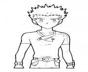 Takashi Bakugan dessin à colorier