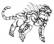 Tigres Bakugan Battle Planet dessin à colorier