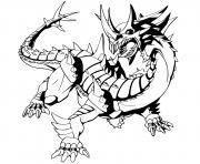 trox bakugan dragon dessin à colorier