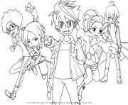 personnages de Bakugan Battle Planet dessin à colorier