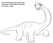 Big Brachiosaurus Pat Patrouille dessin à colorier