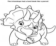 Triceratops Dinosaure Pat Patrouille Dino Rescue dessin à colorier