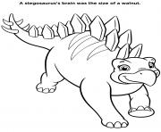 Dinosaure Stegosaurus Dino Rescue dessin à colorier