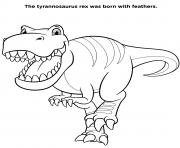 Tyrannosaurus Rex For Kids dessin à colorier