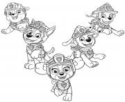 Pat Patrouille Dino Rescue Chiots dessin à colorier