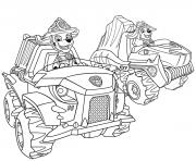 Pat Patrouille Voiture 4x4 dessin à colorier