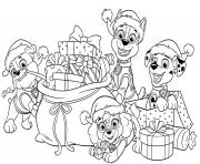 Pat Patrouille Christmas Gifts dessin à colorier