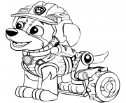 Pat Patrouille Dino Rescue Rex Chiot dessin à colorier