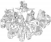 Pat Patrouille Chiots Dino Rescue dessin à colorier
