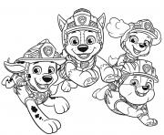 Pat Patrouille Dino Rescue dessin à colorier
