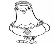 Pat Patrouille Oiseau Chickaletta dessin à colorier
