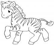 zebre facile pour maternelle dessin à colorier