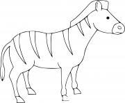 zebra facile pour maternelle 3 ans dessin à colorier