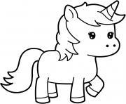 princesse licorne kawaii dessin dessin à colorier