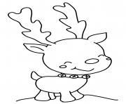 noel renne mignon maternelle dessin à colorier