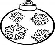 boule de noel maternelle flocon de neige dessin à colorier