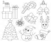 noel facile pour les enfants d age prescolaire maternelle dessin à colorier