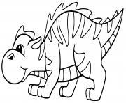dinosaure facile pour enfants dessin à colorier