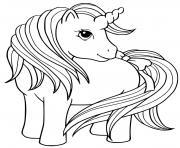 princesse licorne maternelle dessin à colorier