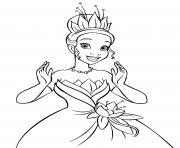 Tiana dans La Princesse et la Grenouille en 2009 dessin à colorier