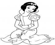 Blanche Neige du film Blanche Neige et les Sept Nains adapte du conte traditionnel des freres Grimm  dessin à colorier