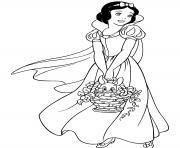 blanche neige disnye miroir magique qui est la plus belle du royaume dessin à colorier
