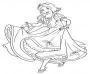princesse blanche neige attend son prince charmant dessin à colorier