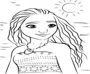 Vaiana Moana La Legende du bout du monde 2016 dessin à colorier