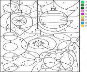 Noel Par Numero Chiffre Magique dessin à colorier