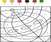 magique boule de noel chiffre numero maternelle dessin à colorier