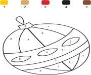 magique boule de noel chiffre numero dessin à colorier