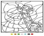 magique sapin de noel chiffre numero maternelle dessin à colorier