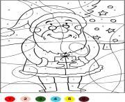 Magique de Noel Chiffre Numero dessin à colorier