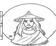 guerriere Raya cherche le dernier Dragon du Monde de Disney dessin à colorier