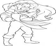 princesse ariel amoureuse dessin à colorier