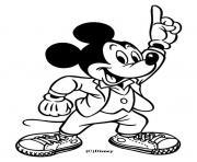 Mickey danse dessin à colorier