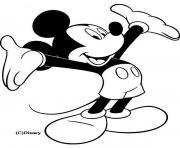 Mickey les bras ouverts dessin à colorier