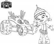 disney les mondes de ralph dessin à colorier