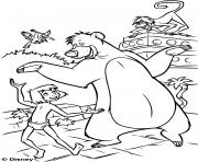 le livre de la jungle film disney dessin à colorier