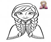 la reine des neiges dessin à colorier