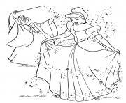cendrillon personnage du conte Cendrillon ou la Petite pantoufle de verre dessin à colorier