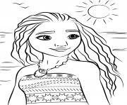disney vaiana la legende du bout du monde dessin à colorier