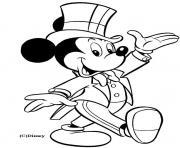 Mickey en smoking dessin à colorier