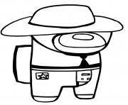le cowboy among us dessin à colorier