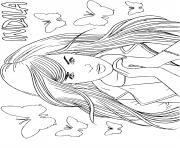 chanteuse a la mode indila dessin à colorier